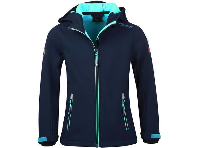 TROLLKIDS Trollfjord Jacket Girls navy/mint